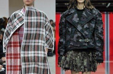Motifs tendance 2013 2014 Carreaux et Camouflage