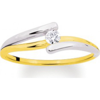 524,25 € solitaire or jaune et diamant