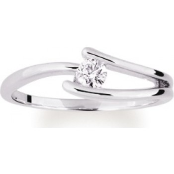 614,25 € solitaire or blanc et diamant