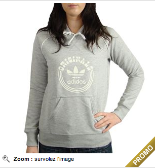 Sweat capuche gris Addidas Urban Locker