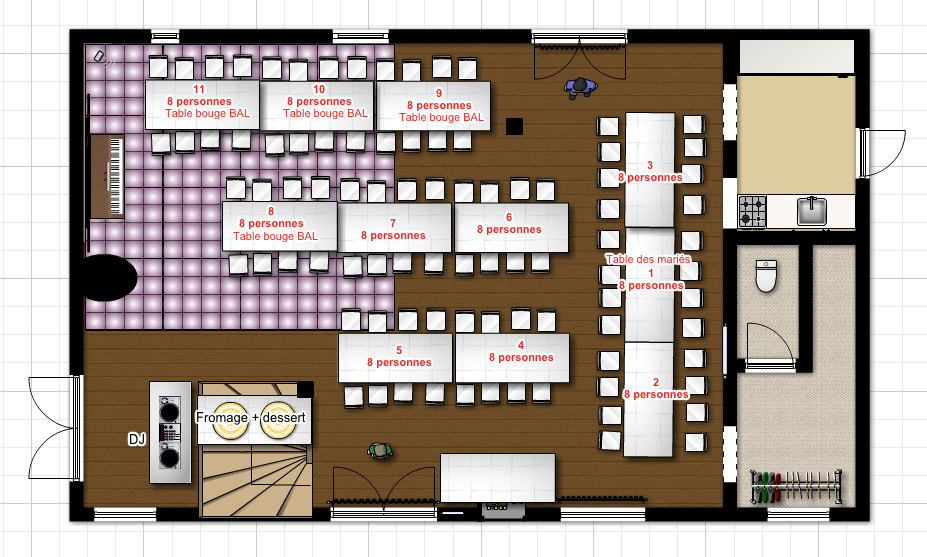 le casse t te du plan de table mariage miss ambre. Black Bedroom Furniture Sets. Home Design Ideas