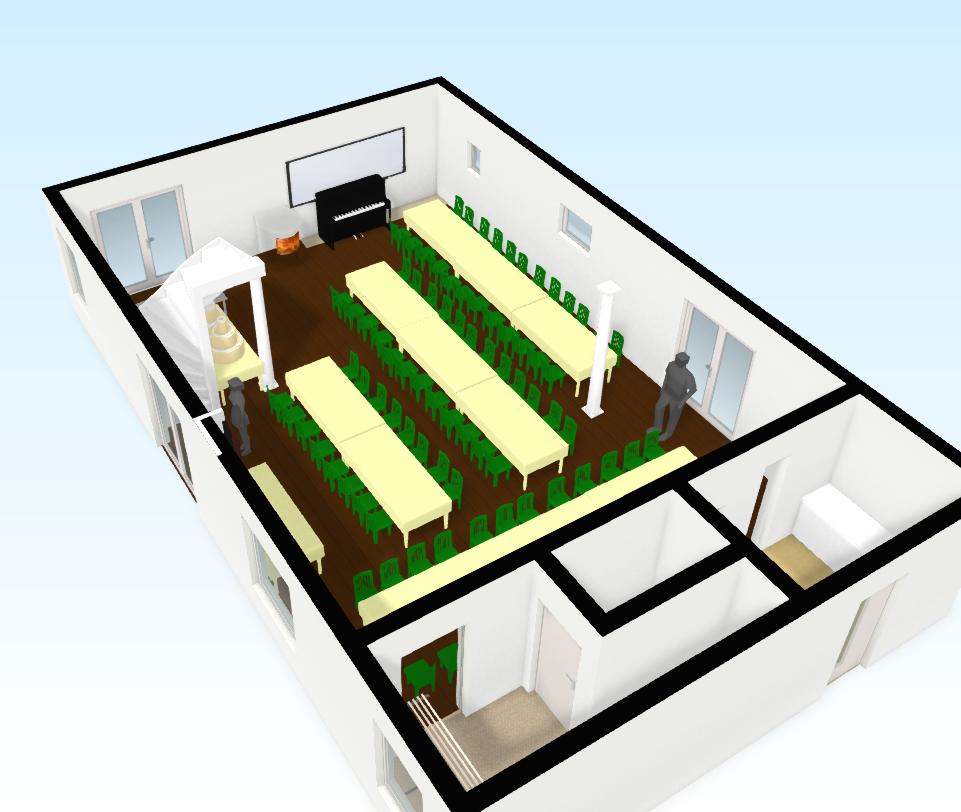 Plan de table mariage vue 3D