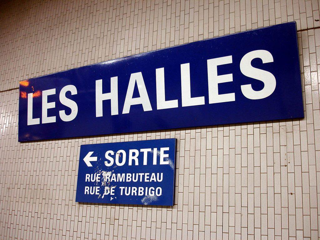 Metro paris les halles